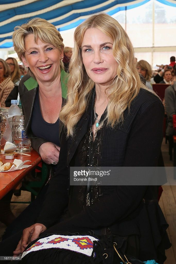 Claudia Jung and Daryl Hannah attends the Gut Aiderbichl Iffeldorf Opening on April 28, 2013 in Iffeldorf, Germany.
