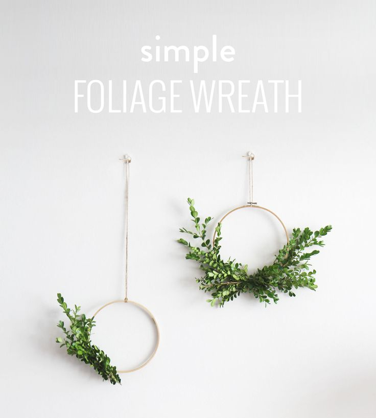 This is a very easy tutorial that shows you how to make your very own simple foliage wreathes to hang proudly on the wall or front door. What You'll Need An embroidery hoop (or 2) Foliage Secateursto trim foliage Green Florist Tape Fishing line Yarn to hang Read more