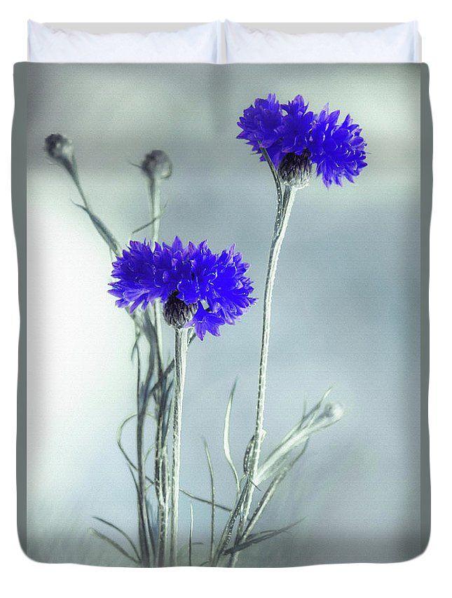 Duvet Cover featuring the photograph Summer Blues by Larysa Koryakina  #HomeIdeas #LarysaKoryakinaFineArtPhotography #DuvetCover #BedroomIdeas #ArtForHome #interiordesing #artforsale #cover #bed #bedroom