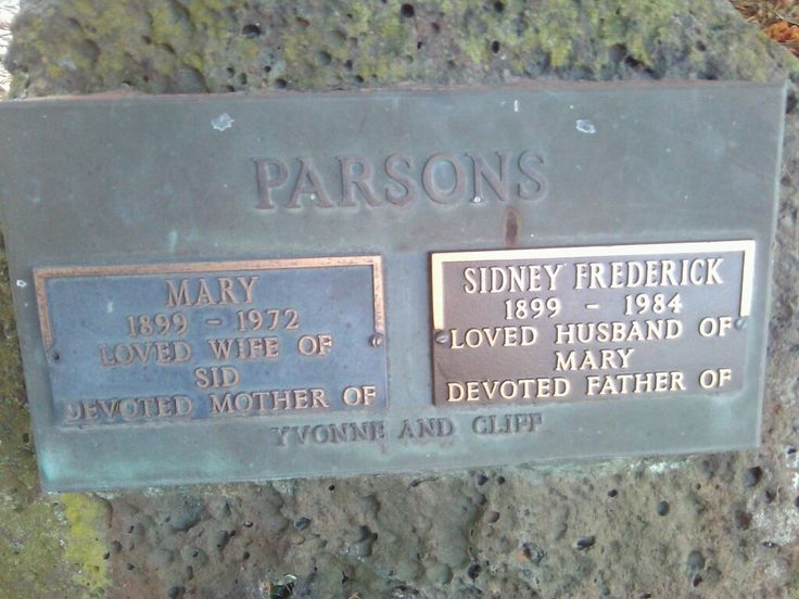 Mary Parsons (Teagle) Grave.jpg - Mary Parsons - David, Lillian And Connected Families