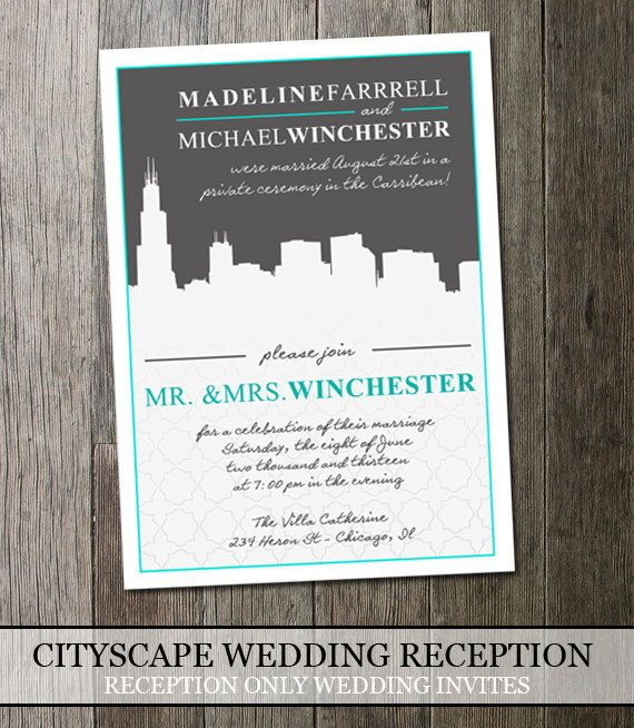 11 best wedding reception invitations images on pinterest, Wedding invitations
