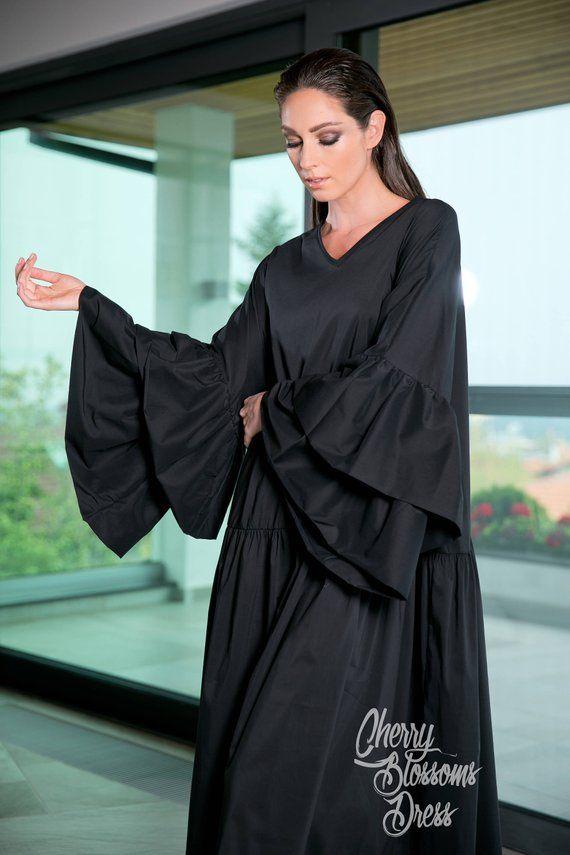 62857cf5b4 Long Ruffle Sleeve Summer Dress, 112.128 in 2019 | MAXI DRESSES and ...