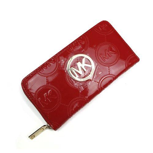 Michael Kors Logo Monogram Signature Large Red Wallets
