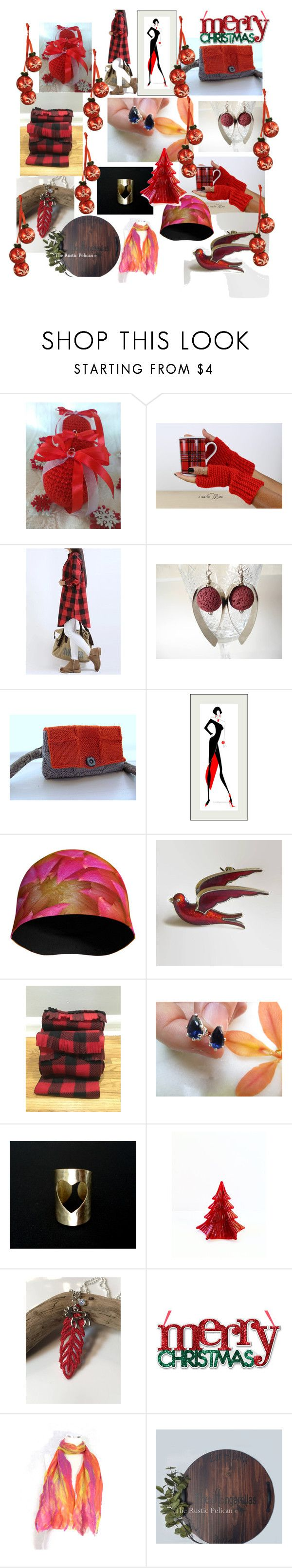Christmas Gifts by anna-recycle on Polyvore featuring modern, rustic and vintage