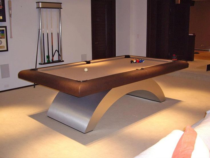 Photo Courtesy Of Century Billiards And Game Room In New York. This Table  Was Installed In The Hamptons By Century Billiards. Brushed Aluminum Base  With ...