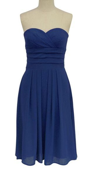 Elegant Pleated Waist Strapless Dress- Choose Your Color