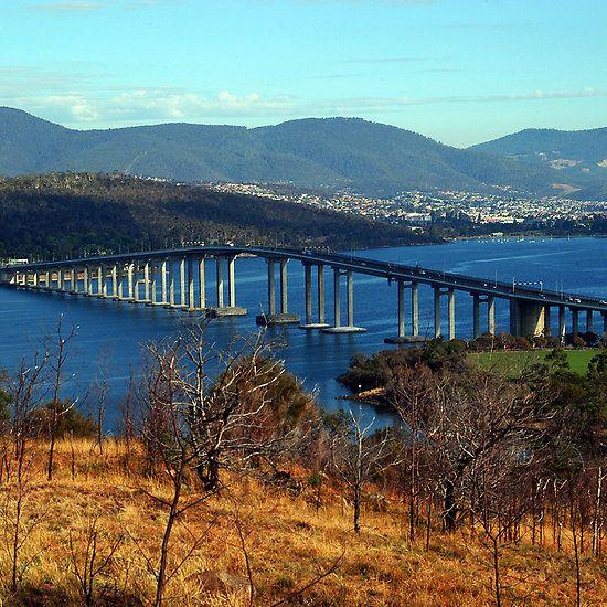 The Tasman Bridge. Hobart, Tasmania, Australia.