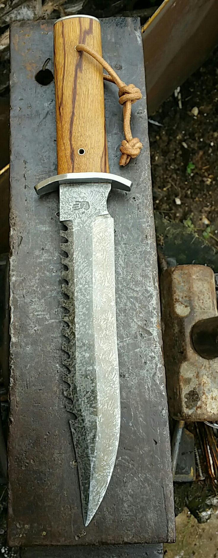 My take on the Rambo 2 knife  #Gardenforgeuk
