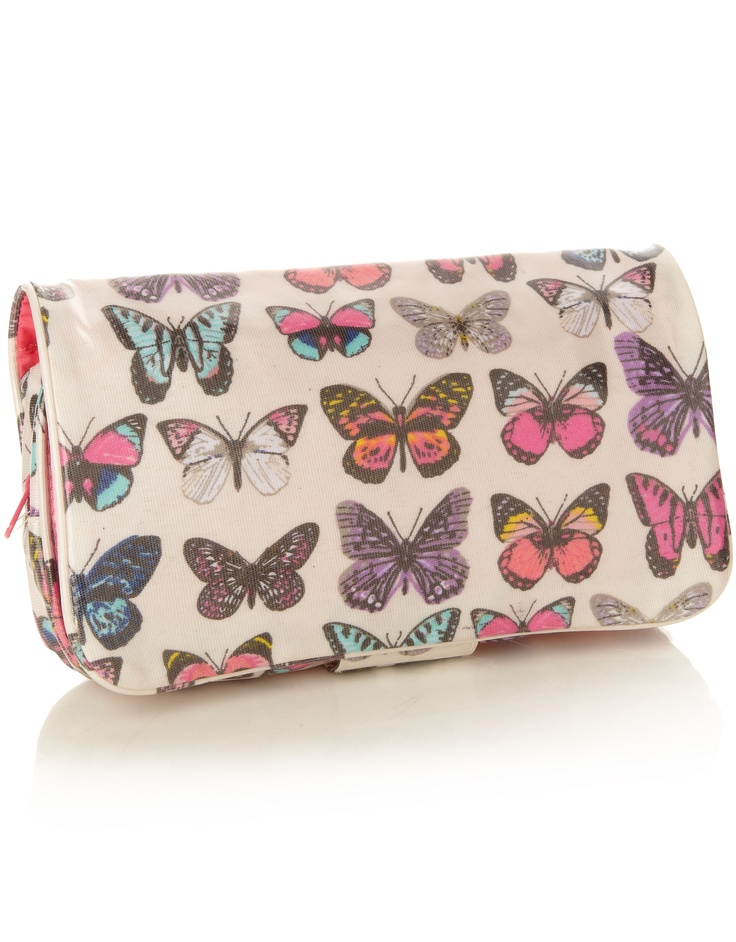 Leather Zip Around Wallet - YOU GIVE ME BUTTERFLIES by VIDA VIDA aHfOPW
