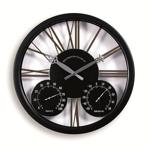 modern outdoor clocks and thermometers | Doddleston Contemporary Garden Clock - Garden Ornaments Direct