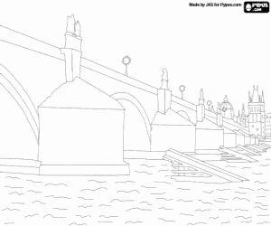 Ponte Carlos rio Vltava em checo Karluv Most em Praga