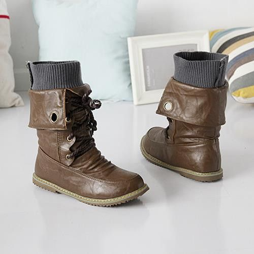 motorcycle martin ankle boots Autumn winter snow boots