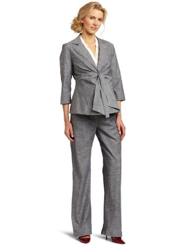 Maternal America Women's Front Tie Blazer, Heather Navy, X-Large $121.00