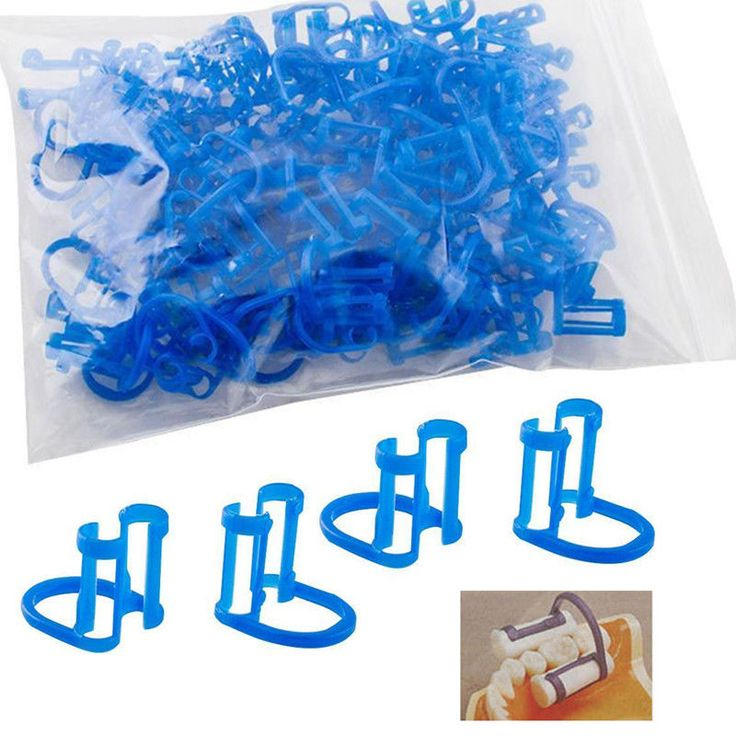 50 Pcs/Bag Cotton Roll Holder Disposable Blue Clip For Dental/Dentist Clinic