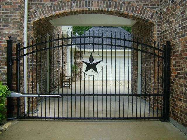 Driveway gate texas star and driveways on pinterest