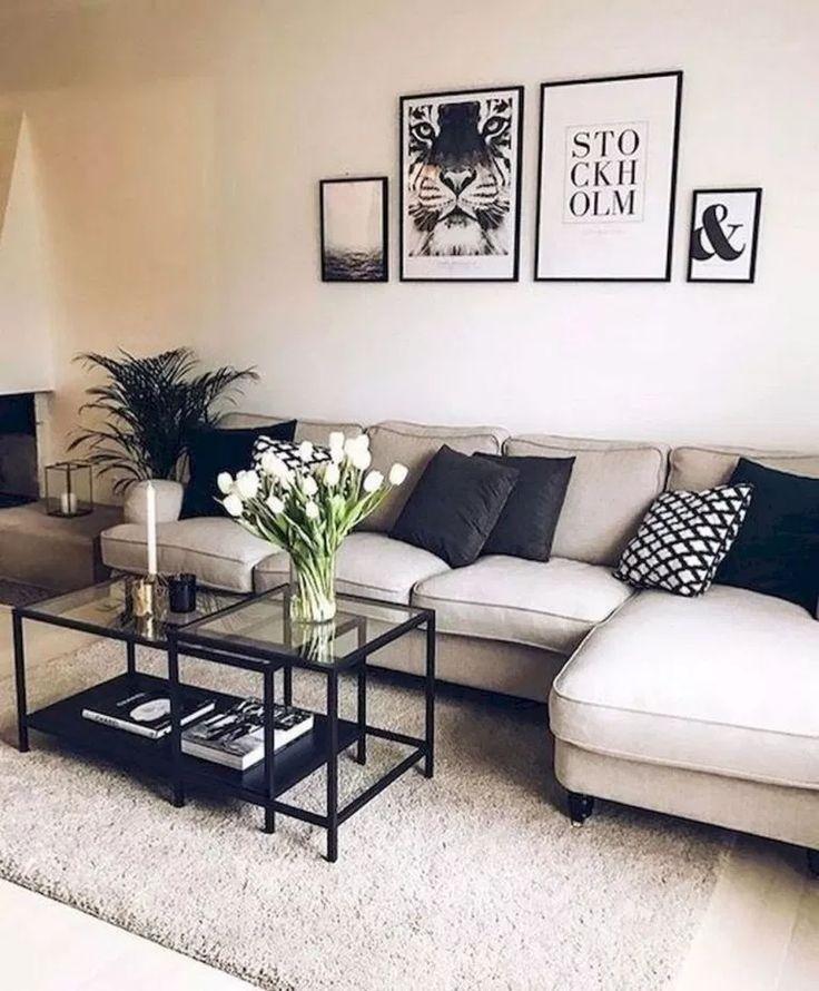 Minimalistische Wohnzimmer-Deko-Ideen #livingroomideas #livingroomdecor