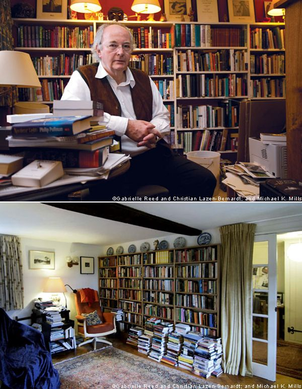 Philip Pullman in his study. Another corner of the study. Photos from Unpacking My Library: Writers and Their Books