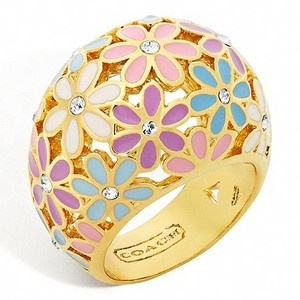 Coach Flower Domed Ring