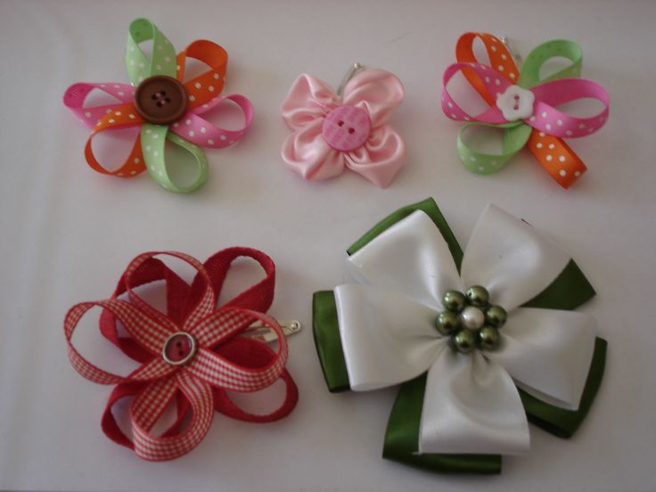 ribbon flowers for hair