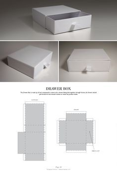 Drawer Box - Packaging & Dielines: The Designer's Book of Packaging Dielines - all kind of boxes and bags out of Paper or Cardboard with free templates - click forward