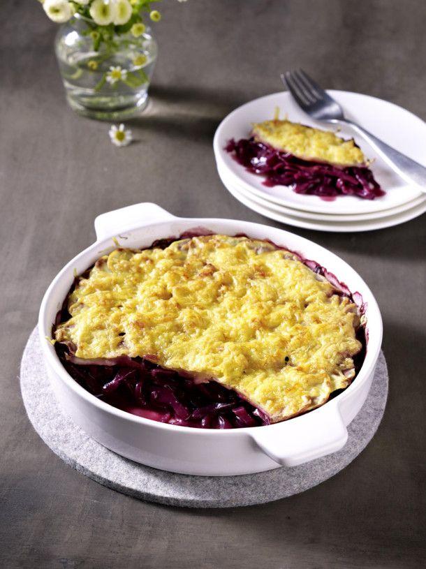 Unser beliebtes Rezept für Überbackener Rotkohl mit Kartoffel-Kruste und mehr als 55.000 weitere kostenlose Rezepte auf LECKER.de.