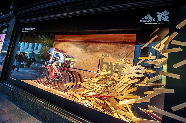 adidas take-over Harrods windows with unique Olympic displays #PRStunts #visualmerchandising