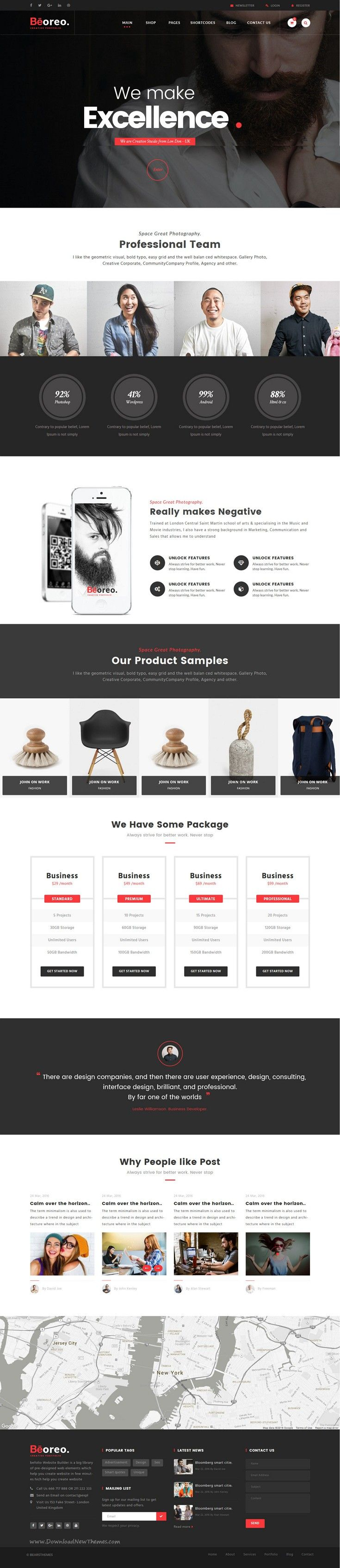 Beoreo | Creative Multi-Purpose WordPress Theme