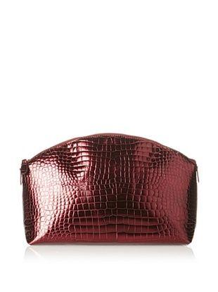64% OFF AEON Women's Large Cosmetic Case, Red Metallic Croc