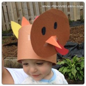 Thanksgiving Crafts for Kids: Bobbling Turkey Hat - How Wee Learn