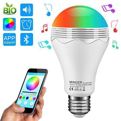 Ampoule LED RGBW Bluetooth Sans Fil, Minger Ampoule de Couleur Changeable avez Haut-parleur Multicolore Décoration Éclairage Contrôlée par iPhone / iPad / Appareils Android / Tablette #Ampoule #RGBW #Bluetooth #Sans #Fil, #Minger #Couleur #Changeable #avez #Haut #parleur #Multicolore #Décoration #Éclairage #Contrôlée #iPhone #iPad #Appareils #Android #Tablette