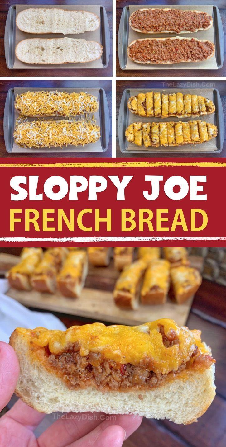 Sloppy Joe French Bread Slices – The Lazy Dish