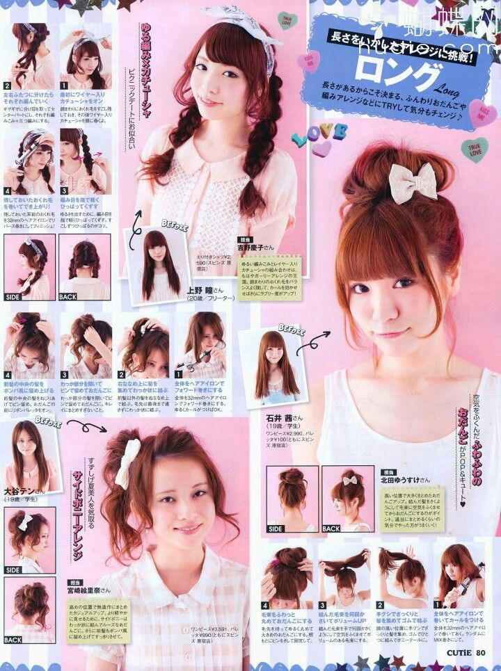 Magnificent 1000 Ideas About Japanese Hairstyles On Pinterest Gyaru Hair Hairstyles For Women Draintrainus