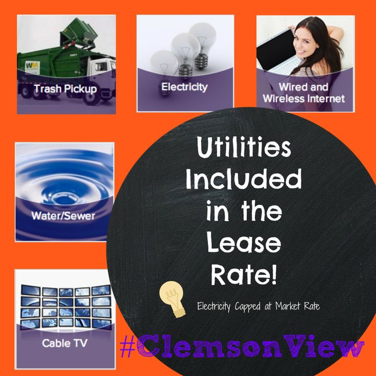 Campus View Apartments lease rates include ALL utilities, with each unit also featuring its own washer/ dryer! #ClemsonView #Clemson #Apartments