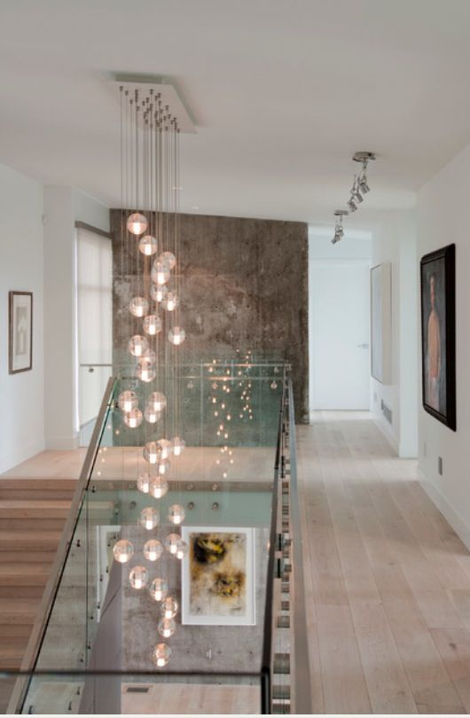Glass ball chandelier