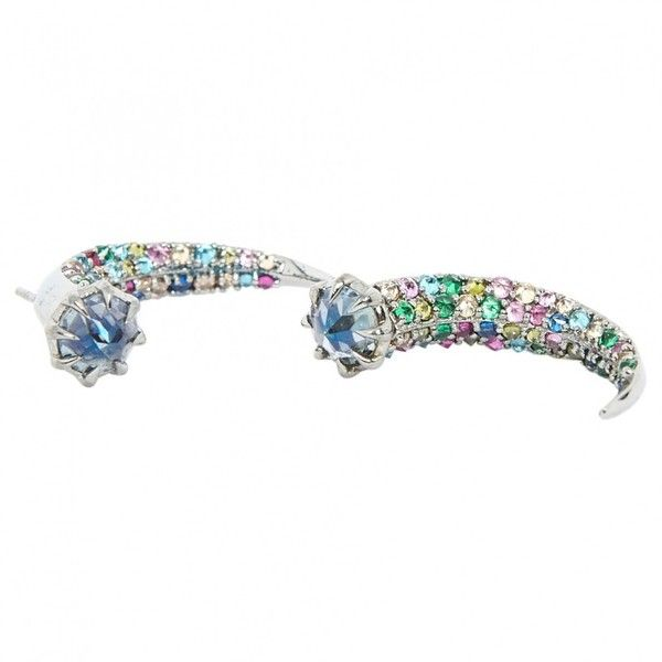 Pre-owned Katie Rowland Multicolour Silver Earrings (265 CAD) ❤ liked on Polyvore featuring jewelry, earrings, multicolour, women jewellery earrings, multi colored earrings, multi color jewelry, katie rowland, pre owned jewelry and multicolor jewelry