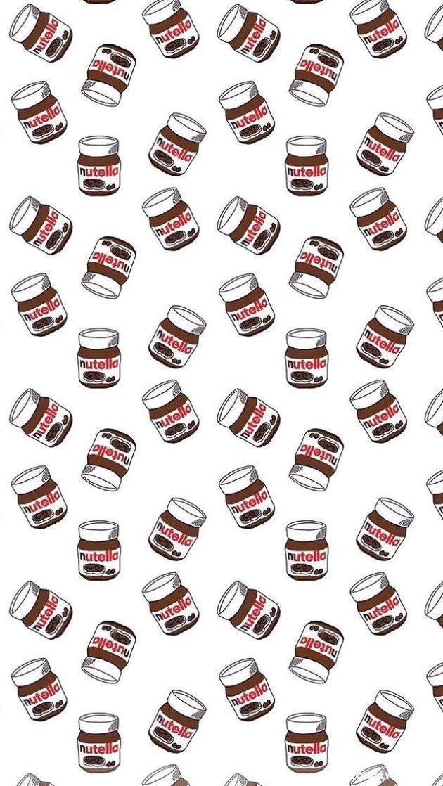 かわいいNutella(ヌテラ)がいっぱい iPhone壁紙 Wallpaper Backgrounds iPhone6/6S and Plus Nutella