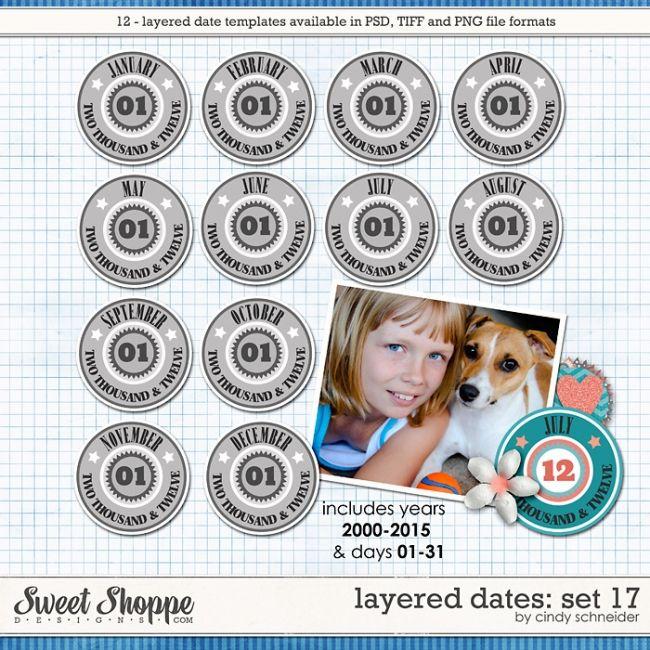 Cindy's Layered Dates: Set 17 by Cindy Schneider