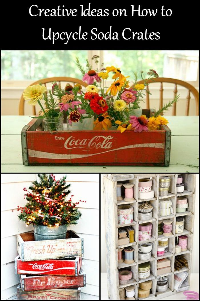 These Upcycling Ideas Will Give Your Old Soda Crates A New Lease