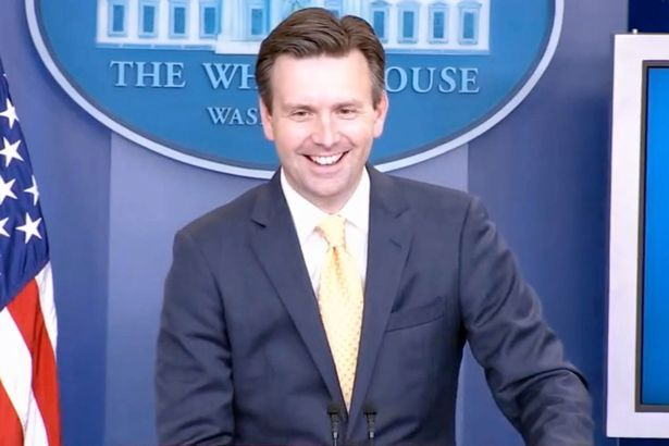 Press secretary Josh Earnest laughed off the question concerning Roswell