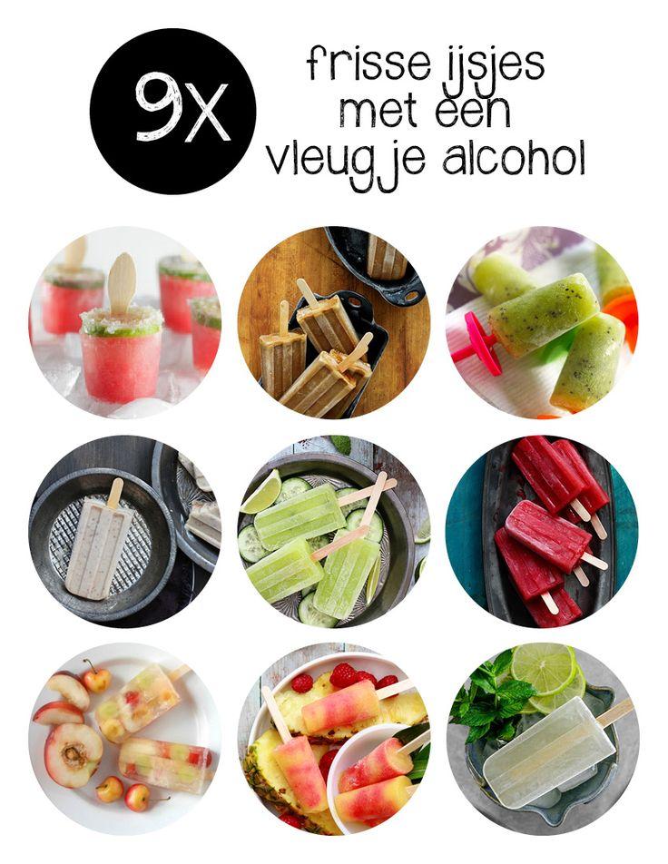 Frisse cocktails, tequila, witte wijn, sangria & ijs: twee must have voor de zomers. Dat worden dus ijsjes met alcohol.