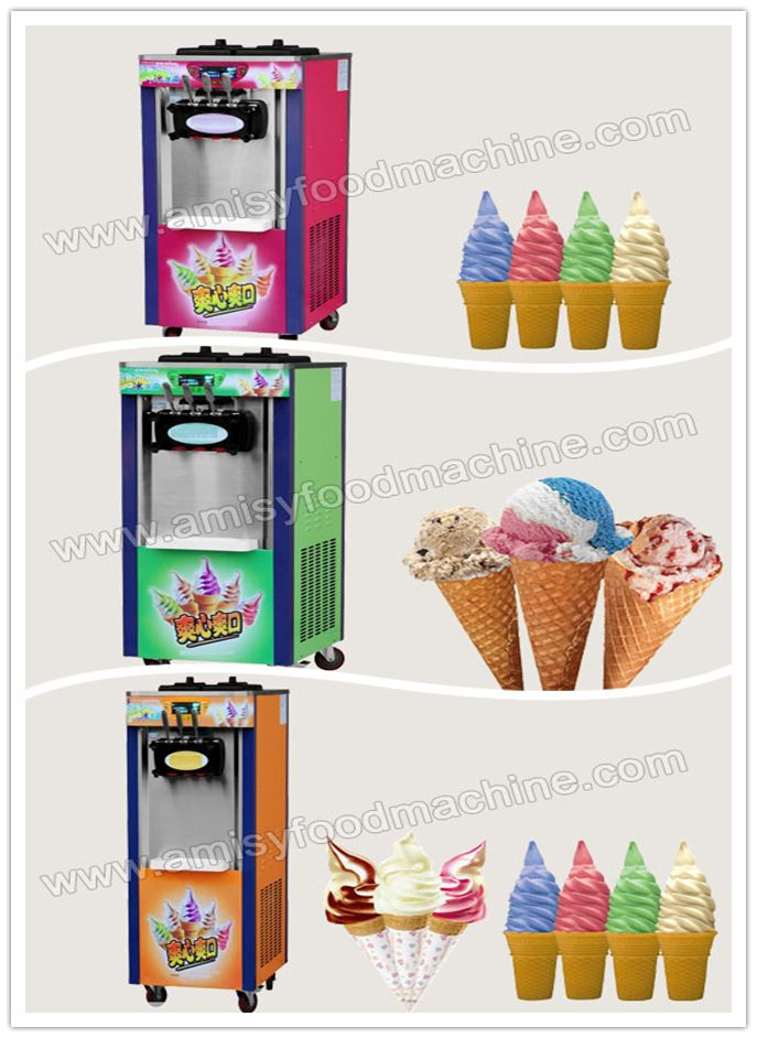 Link: http://amisyfoodmachine.com/product/ice-cream/ice-cream-machine/Vertical-IceCream-Machine.html Email: info@amisymachine.com Equipped with computer controlling system, safe and easy to operate; Ideal for any restaurant, hotel and store for ice cream business,etc; Hardness of soft ice cream can be adjusted at any time; this vertical soft ice cream machine can make different flavor and different shapes soft ice creams.
