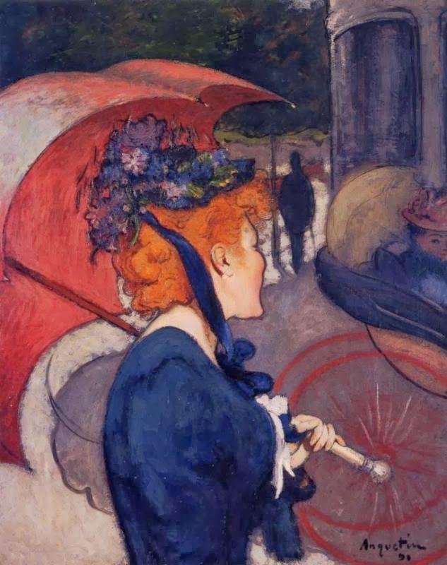 Louis Anquetin - Femme à l'ombrelle, 1891