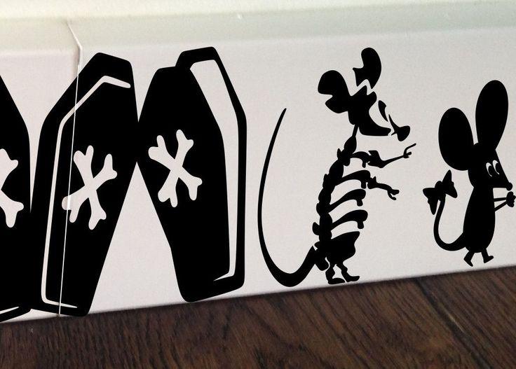Awesome Maus Halloween Skelett K rbis Wandaufkleber Wandsticker Wandtattoo Kinderzimmer
