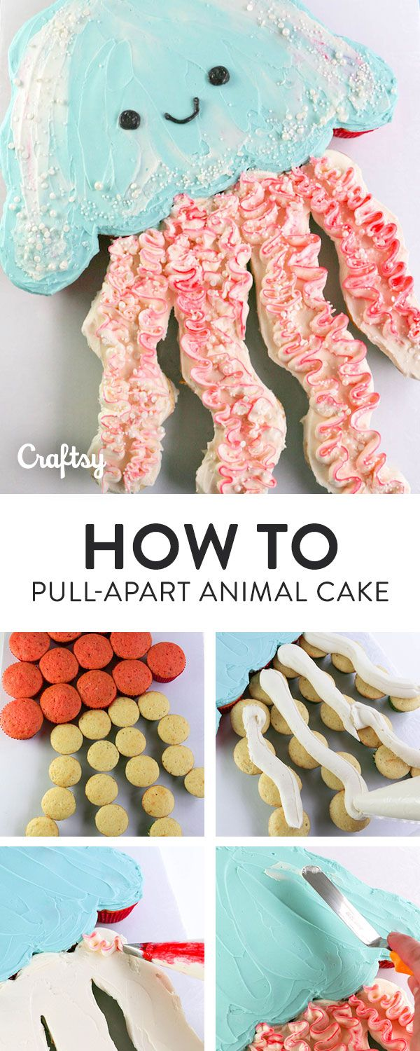 How to make an adorable animal pull apart cake for your next birthday party, potluck or celebration