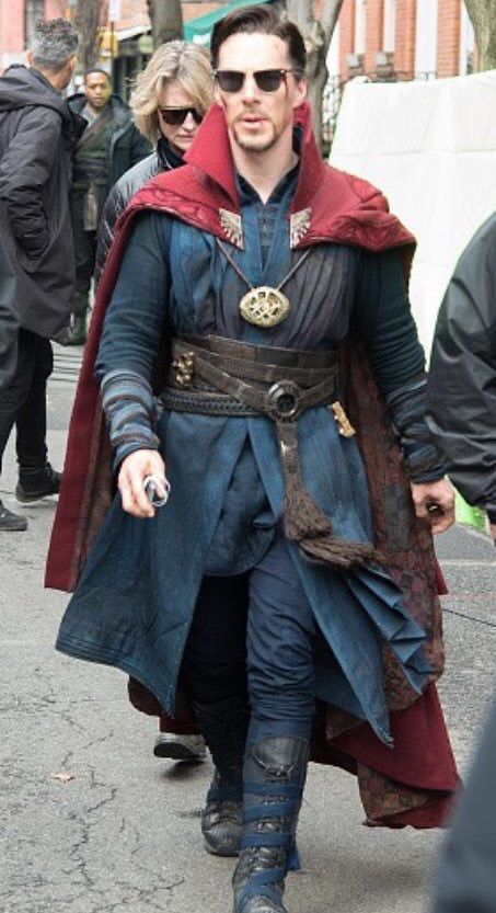 Dr Strange Set in New York - 2nd April 2016.  BTW-Saw the first official Dr. Strange movie trailer (that I'm aware off) on Jimmy Kimmel 4/12/16. It's going to be awesome! Hurry up 11/04/16! jf