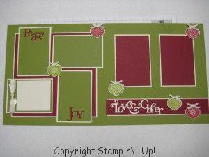 Stampin Up layout - white matting