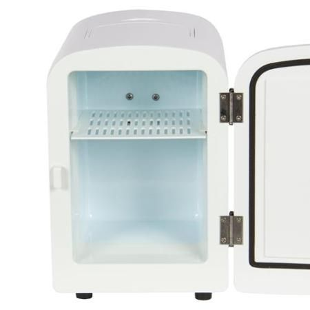 Portable Mini Fridge Cooler and Warmer Auto Car Boat Home Office AC & DC White