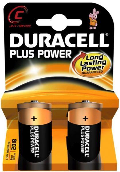 Piles alcalines Duracell plus power LR14
