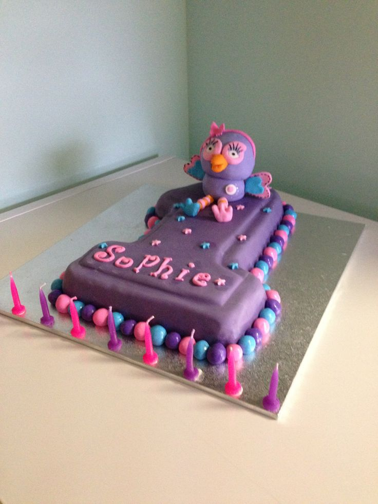 1st birthday hootabelle cake  https://www.facebook.com/pages/Sweet-Temptations/523189694386683