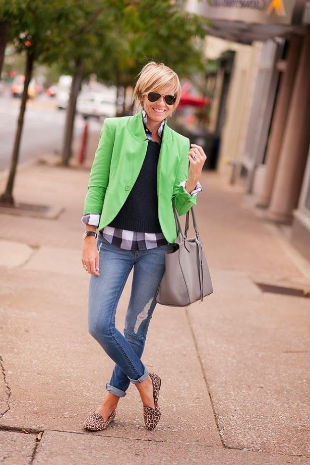 Green Blazer Outfit 2017 Street Style